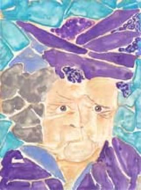 Violet, Final. 4.5 x 6 watercolor on Yupo. © 2015 Sheila Delgado
