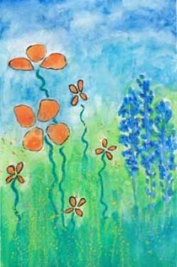 Watercolor postcard, final. 4 x 6. © 2015 Sheila Delgado