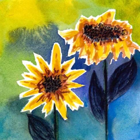 Ugly. 5 x 5 watercolor on 140 lb. cold pressed paper. © 2015 Sheila Delgado