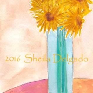 Day 22. 4 x 6 in. watercolor and pencil on 140 lb. Arches cold pressed paper. © 2016 Sheila Delgado