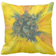 Sunflower pillow, Sheila's Corner, Zazzle