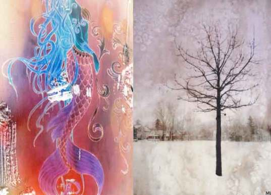 "L.Y.A. 2016 Side swaps #1 and #2. Sarah Calhoun, ""Mermaid"". Michele Matucheski, ""Hope in Winter."