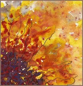 Sun Splatters, Left for Dead. Original. 2016 Sheila Delgado