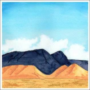 Big Blue. 6 x 6 in. watercolor on Arches 140 lb. cold pressed paper. © 2016 Sheila Delgado