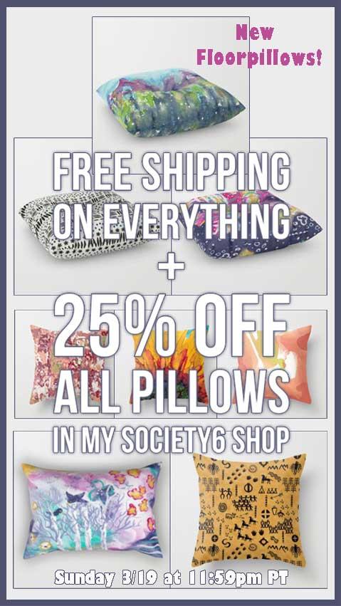 Society6 free shipping