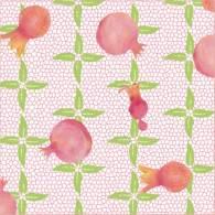Pretty in Pink Pomegranates. Mixed media surface design. © 2017 Sheila Delgado