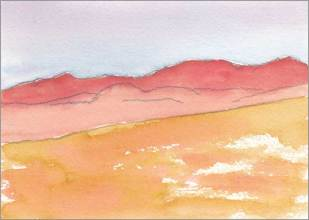 Mingus Day #34. 5 x 7 in. Watercolor on Arches 140 lb. cold pressed paper. © 2018 Sheila Delgado.