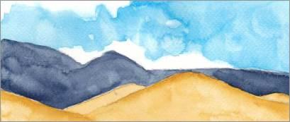 Mingus Day #59. 4 x 10 in. watercolor on Fabriano 140 lb. cold pressed paper. © 2018 Sheila Delgado.