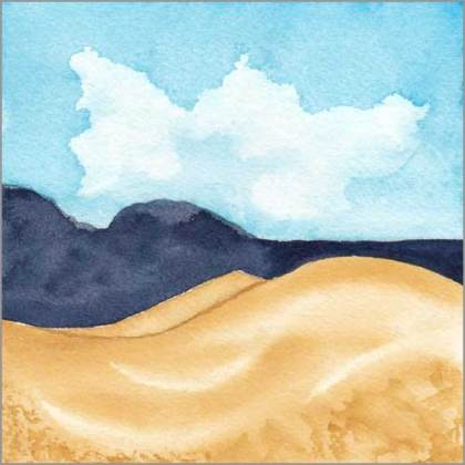 Mingus Day #60. 5.25 x 5.25 in. watercolor on Arches 140 lb. cold pressed paper. © 2018 Sheila Delgado.