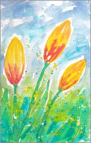 #3 WWM. 5.5 x 8 in. watercolor on Strathmore 140 lb. cold pressed paper. © 2018 Sheila Delgado.