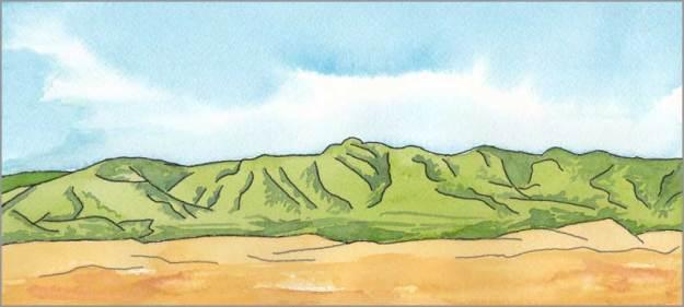 Mingus #92. 12 x 5.5 in. watercolor on Arches 140 lb. cold pressed paper. © 2018 Sheila Delgado.