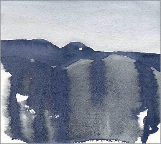 Mingus Day #94. 6 x 5.5 in. watercolor on Arches 140 lb. cold pressed paper. © 2018 Sheila Delgado.