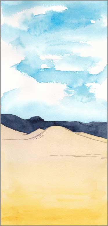 Mingus #97. 11,5 x 5.5 in. watercolor on Arches 140 lb. cold pressed paper. © 2018 Sheila Delgado.
