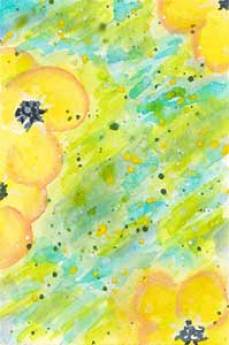 Day 10 original, 2.5 x 3.5 watercolor on paper. © 2020 Sheila Delgado.
