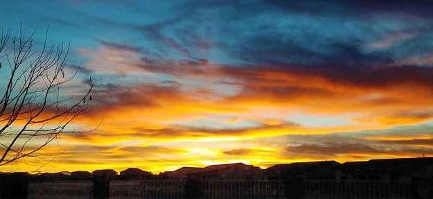 Sunset 2-8-21. © 2021 Sheila Delgado.