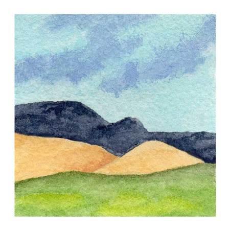 Day 12, WWM, 2 x 2 inch watercolor on Arches 140 lb. cold pressed paper. © 2021 Sheila Delgado.