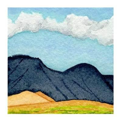 Day 18, WWM, 2 x 2 inch watercolor on Arches 140 lb. cold pressed paper. © 2021 Sheila Delgado.