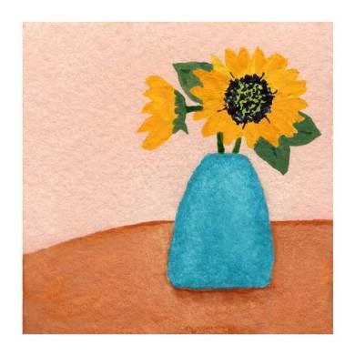 Day 19, WWM, 2 x 2 inch watercolor on Arches 140 lb. cold pressed paper. © 2021 Sheila Delgado.