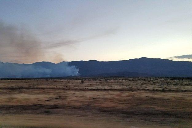 Fire over Bradshaw, dusk. 7-1-21, SMDelgado.