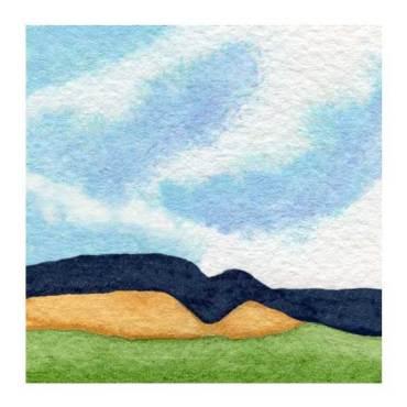 Day 27, WWM, 2 x 2 inch watercolor on Arches 140 lb. cold pressed paper. © 2021 Sheila Delgado.