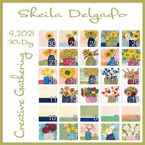 Sheila Delgado Sept 2021 30-Day Creative Gathering Collage