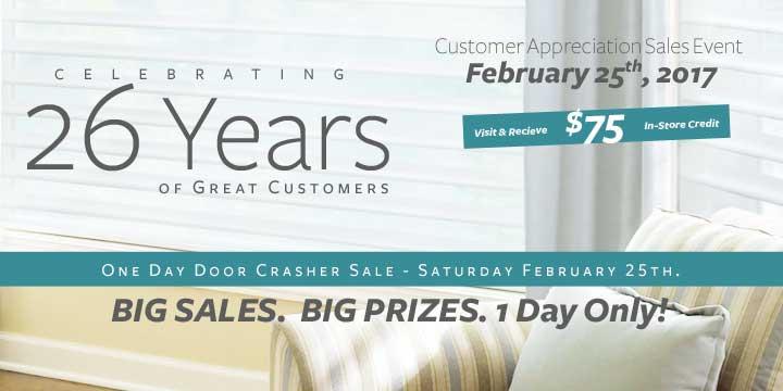 Customer Appreciation Event Blinds Sale