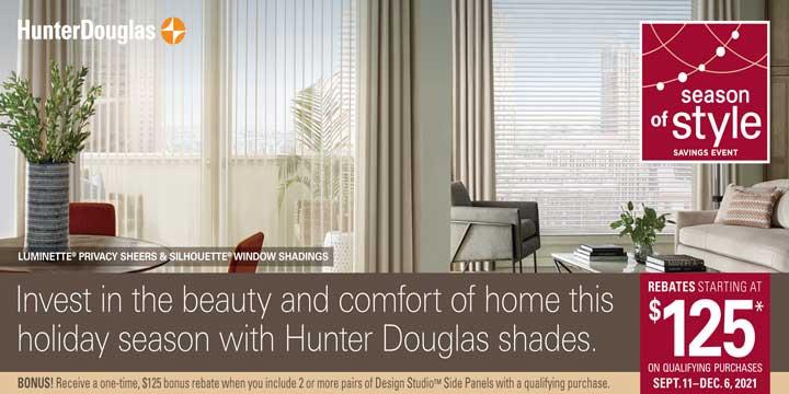 Hunter Douglas Sale Rebate Season