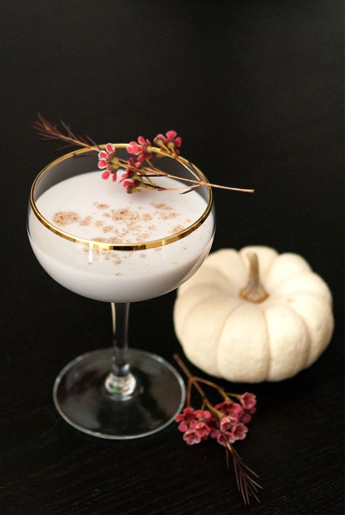 The White Pumpkin Cocktail - She Keeps a Lovely Home