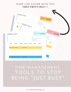 This is a great read on saving time as a working full-time mom.  There are easy go to steps, only Three Steps they are a must do.  Time management is hard as you have to balance work life and parenting.  Click this image to read more and subscribe to get your free downloadable printables.