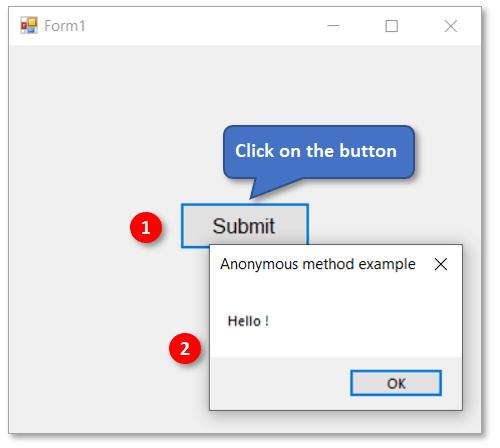 Anonymous method example