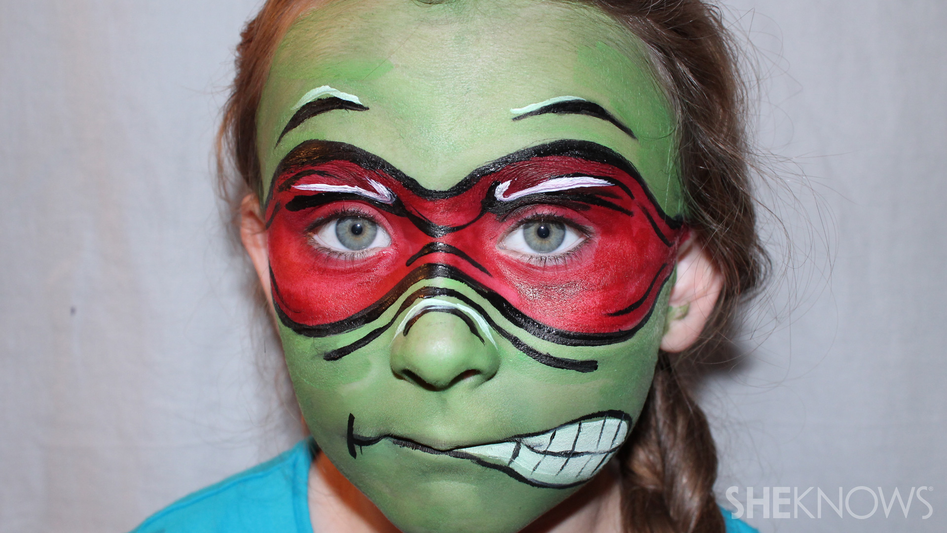 Face Painting Ninja Turtle Mask