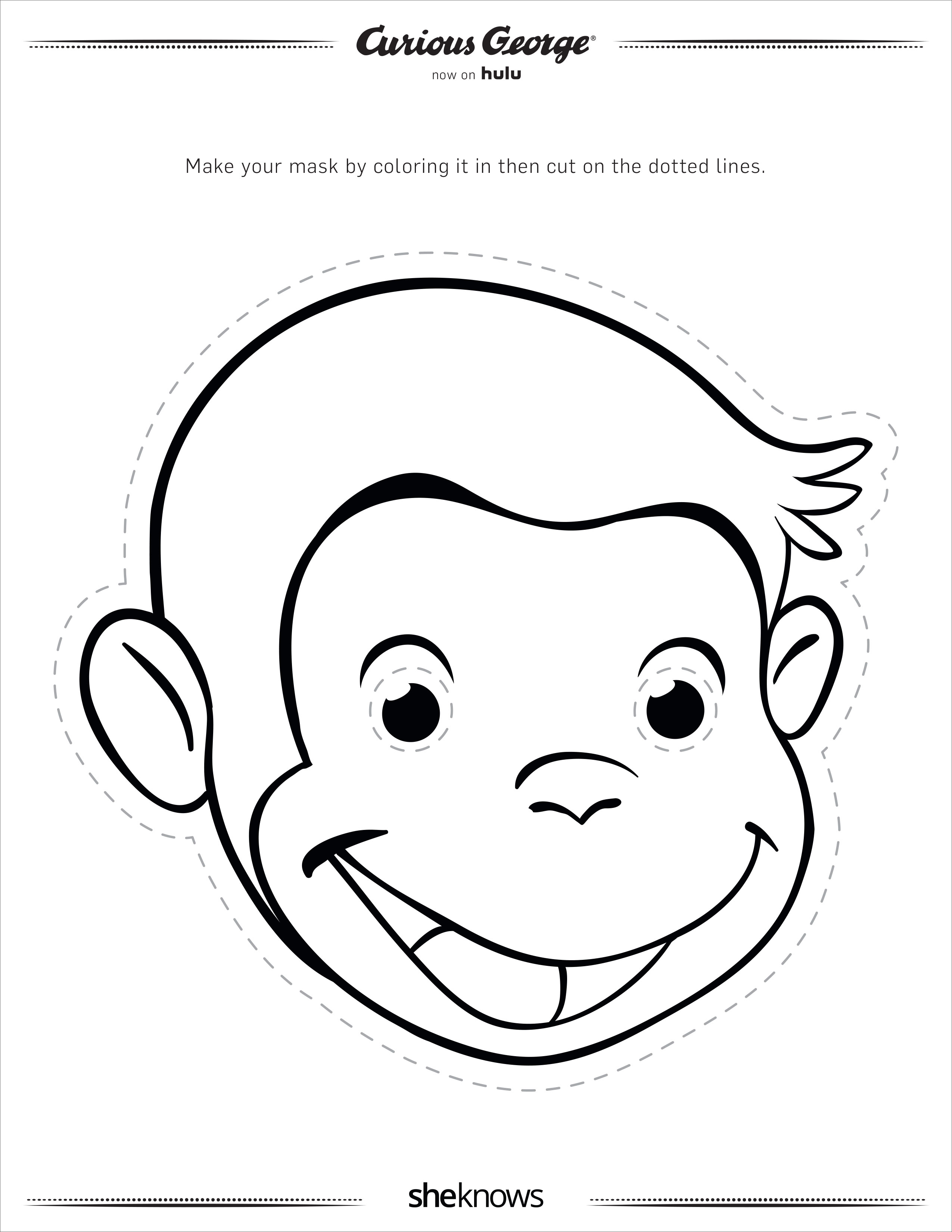10 Curious George Activity Pages Every Preschool Mom