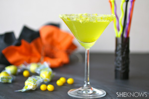 luscious lemonhead-infused vodka martini — candy-inspired cocktails