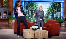 Michelle Obama & Ellen DeGeneres Show Off Their Musical Chops With a Duet