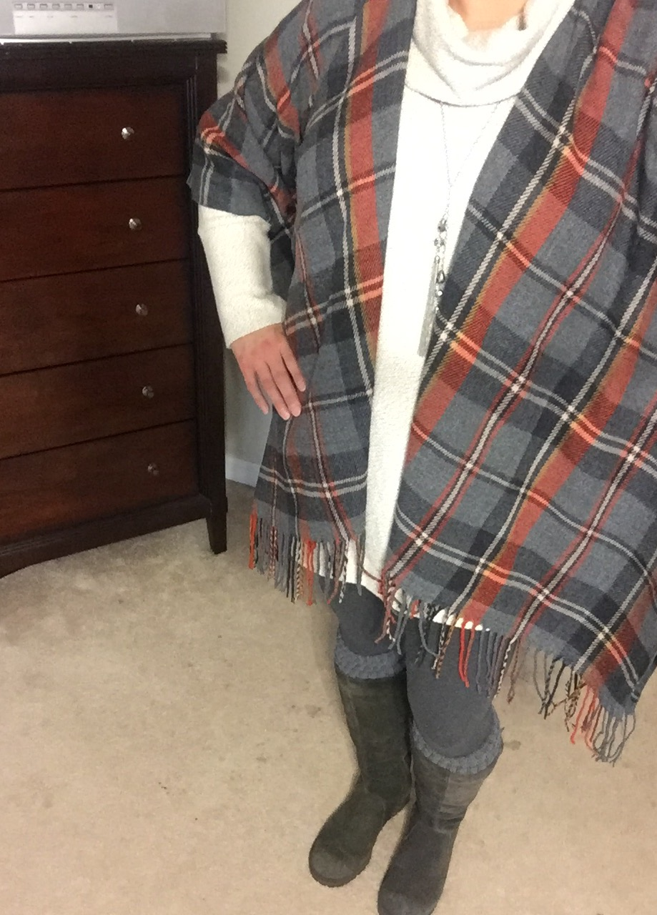 My Other Plaid Poncho