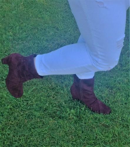 Plum-booties