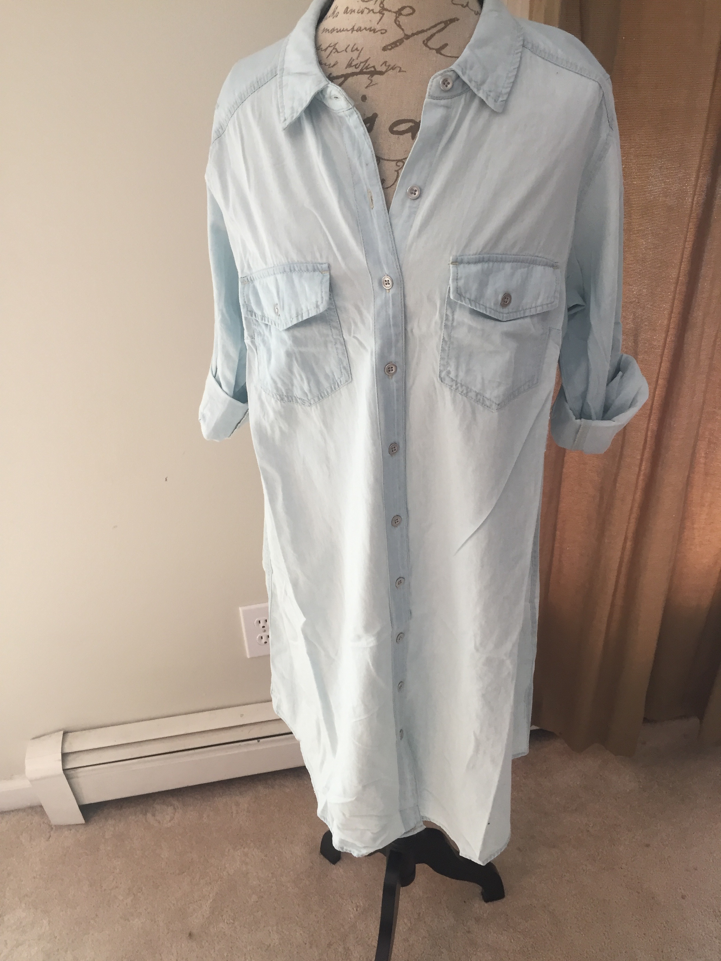 Light Chambray Shirt Dress