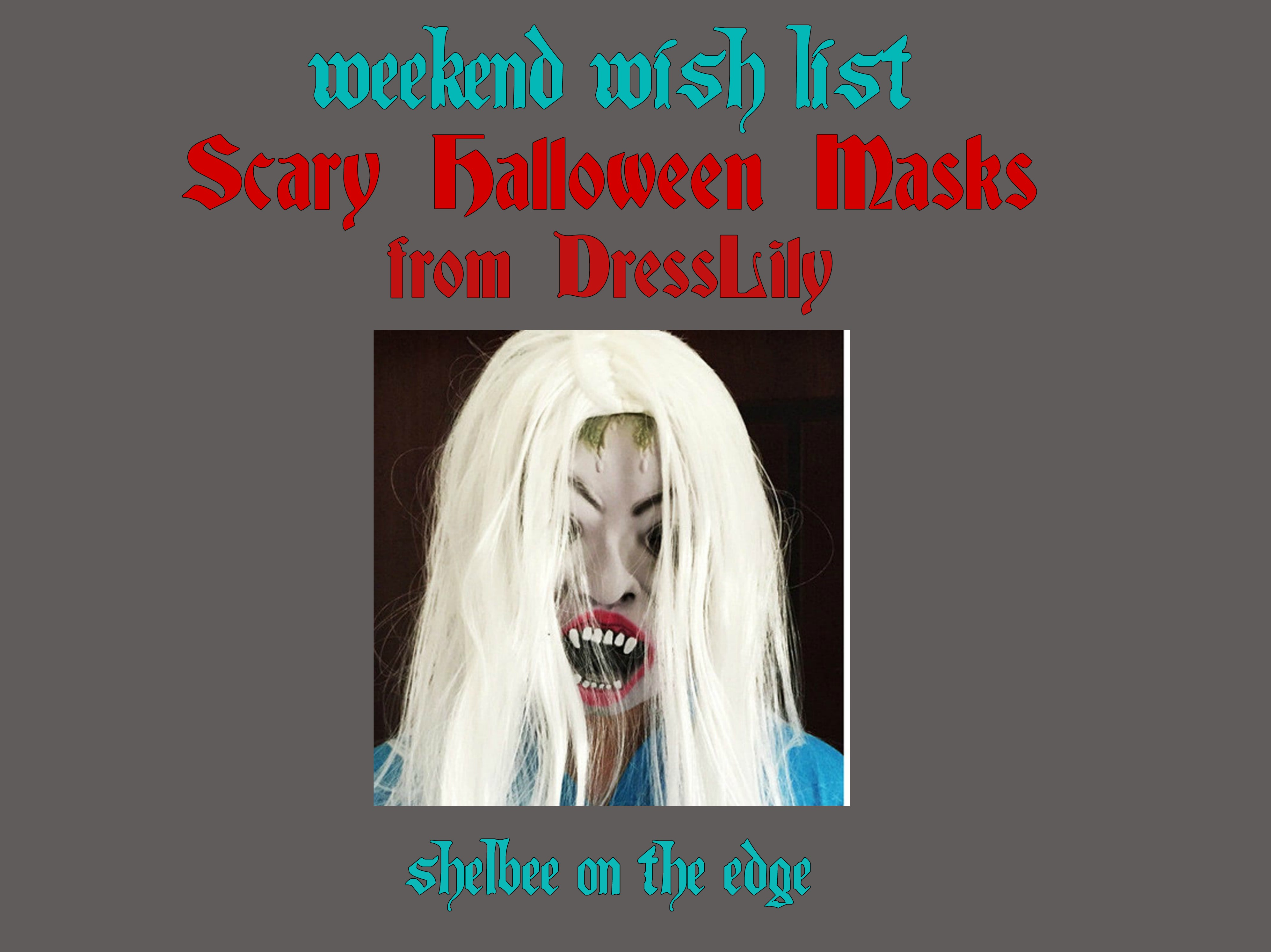 Weekend Wish List: Scary Halloween Masks from DressLily