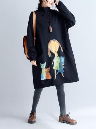 ee714dc1a56 ... Dress · Plus Size Casual Women Girl and Cat Sweatshirt · Plus Size  Elegant Women Gold Velvet ...