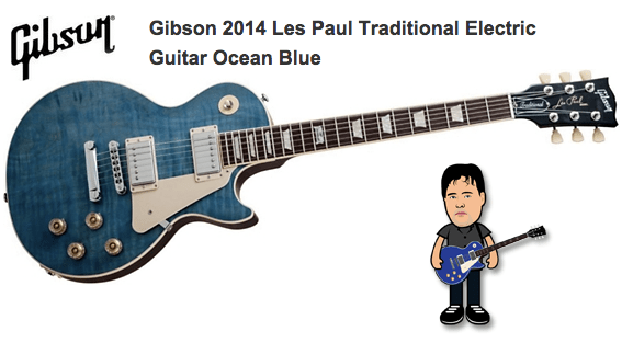 Gibson 2014 Les Paul Traditional Electric Guitar Ocean Blue