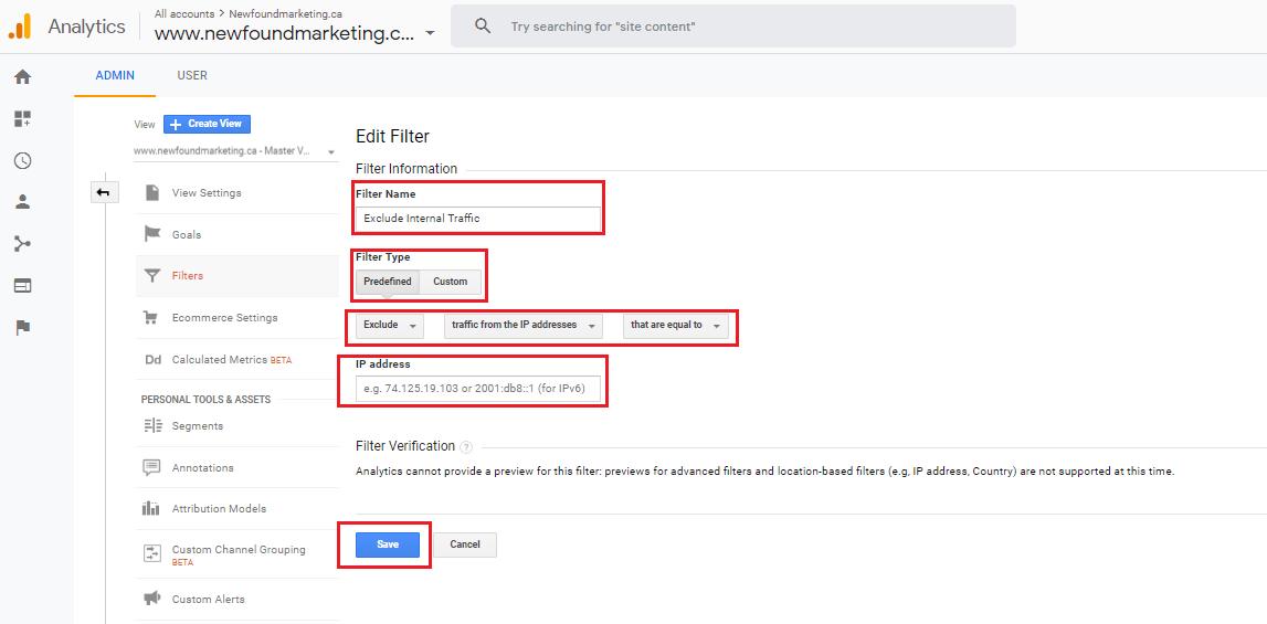 External Traffic Filter In Google Analytics