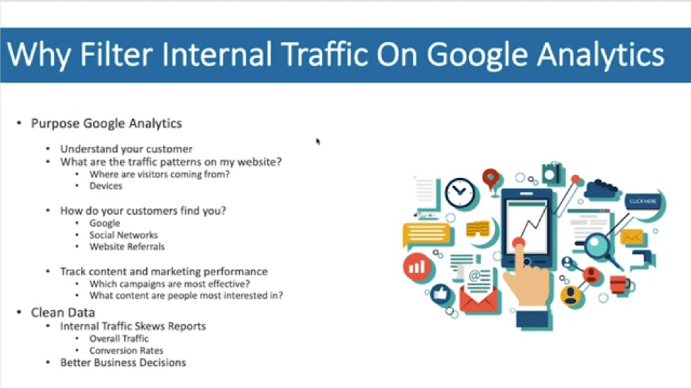Why Filter Internal Traffic on Google Analytics