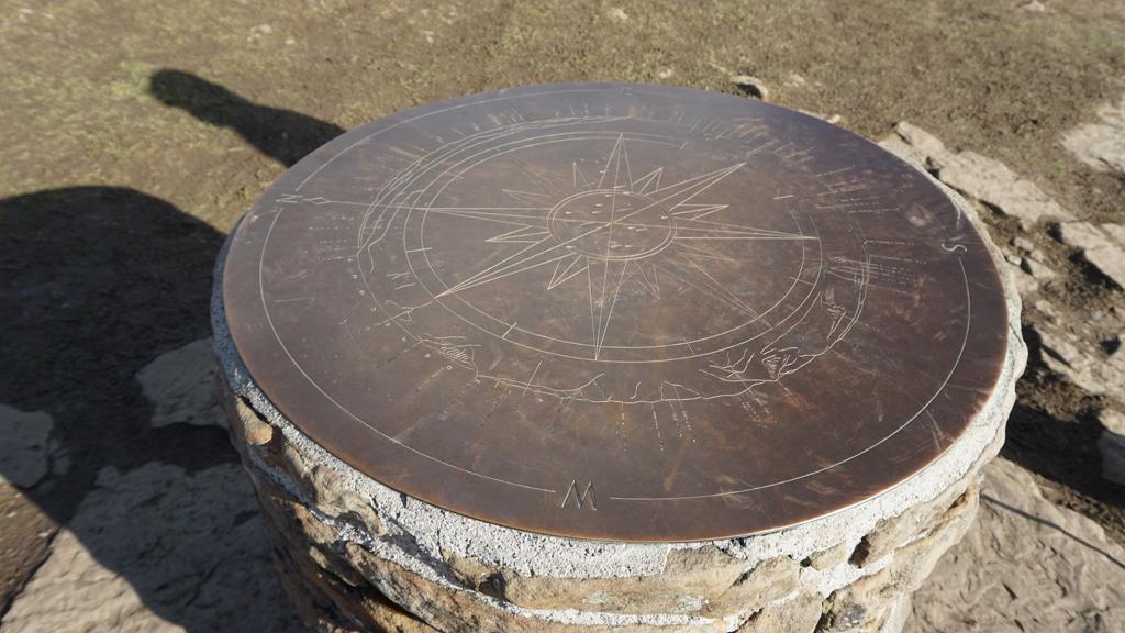 Mam Tor Summit Compass