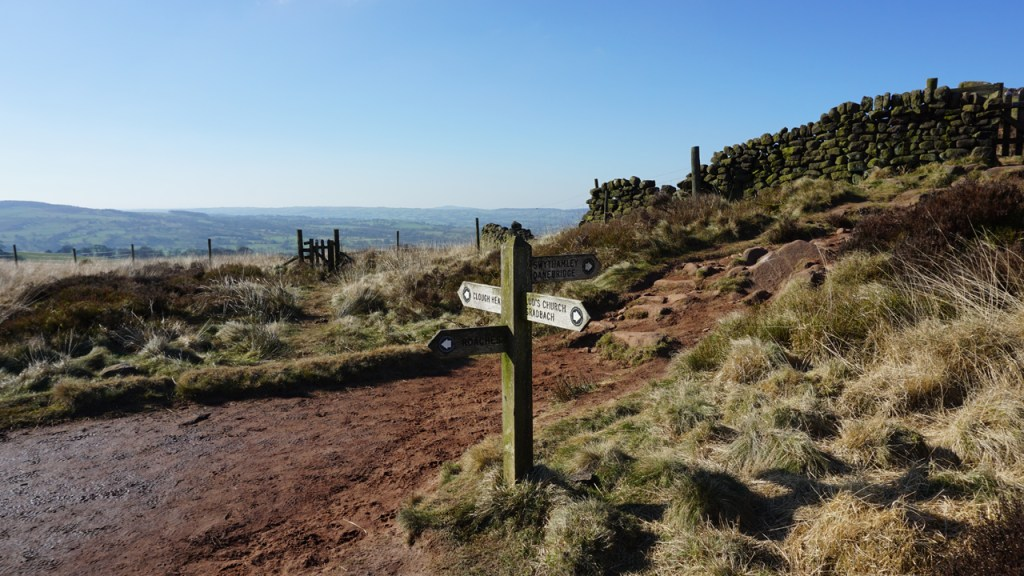 Sign at the top to Roaches