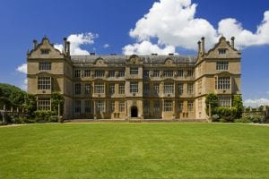 Colour photograph of the façade of Montacute House, another landmark in Yeovil's literary scene.
