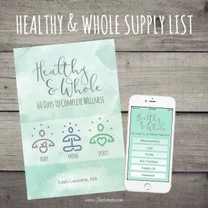 Healthy and whole supply list