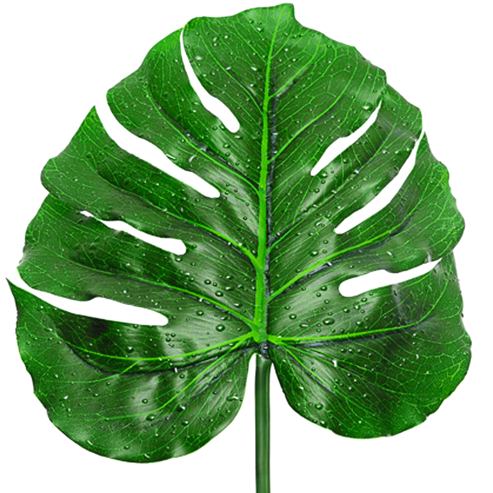 Artificial Raindrop Monstera Leaf Swiss Cheese Plant