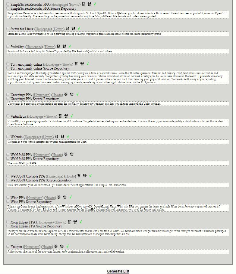 Ubuntu Sources List Generator | shell {&} co