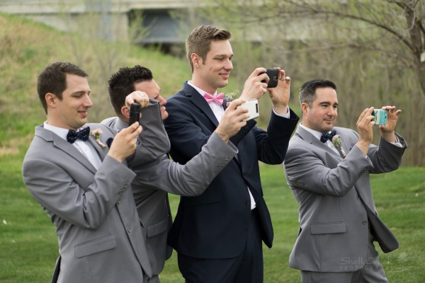 The guys taking pictures of the girls!