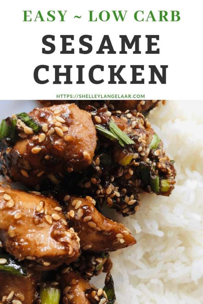 Low carb sesame chicken recipe
